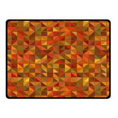 Gold Mosaic Background Pattern Fleece Blanket (Small)