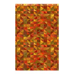 Gold Mosaic Background Pattern Shower Curtain 48  x 72  (Small)