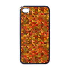 Gold Mosaic Background Pattern Apple Iphone 4 Case (black)