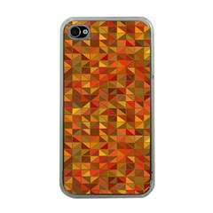 Gold Mosaic Background Pattern Apple iPhone 4 Case (Clear)