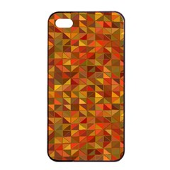 Gold Mosaic Background Pattern Apple iPhone 4/4s Seamless Case (Black)