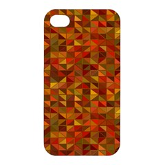Gold Mosaic Background Pattern Apple iPhone 4/4S Hardshell Case