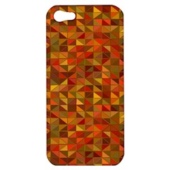 Gold Mosaic Background Pattern Apple Iphone 5 Hardshell Case