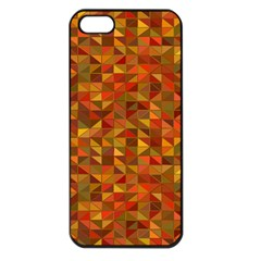 Gold Mosaic Background Pattern Apple iPhone 5 Seamless Case (Black)
