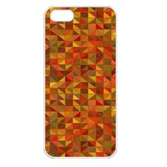 Gold Mosaic Background Pattern Apple Iphone 5 Seamless Case (white)