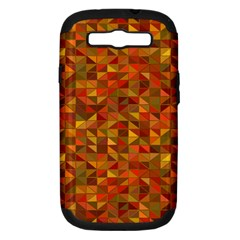 Gold Mosaic Background Pattern Samsung Galaxy S III Hardshell Case (PC+Silicone)