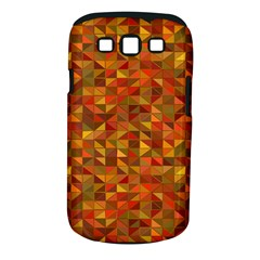 Gold Mosaic Background Pattern Samsung Galaxy S III Classic Hardshell Case (PC+Silicone)