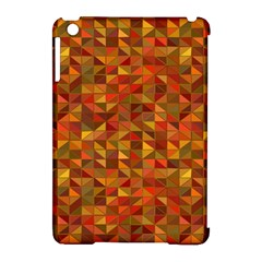 Gold Mosaic Background Pattern Apple Ipad Mini Hardshell Case (compatible With Smart Cover)