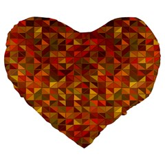 Gold Mosaic Background Pattern Large 19  Premium Heart Shape Cushions