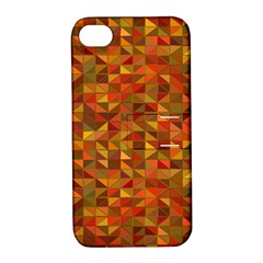 Gold Mosaic Background Pattern Apple iPhone 4/4S Hardshell Case with Stand