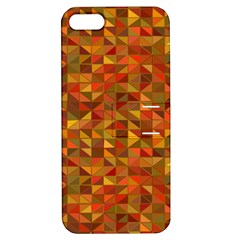 Gold Mosaic Background Pattern Apple Iphone 5 Hardshell Case With Stand