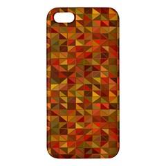 Gold Mosaic Background Pattern Apple iPhone 5 Premium Hardshell Case