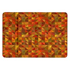 Gold Mosaic Background Pattern Samsung Galaxy Tab 8 9  P7300 Flip Case