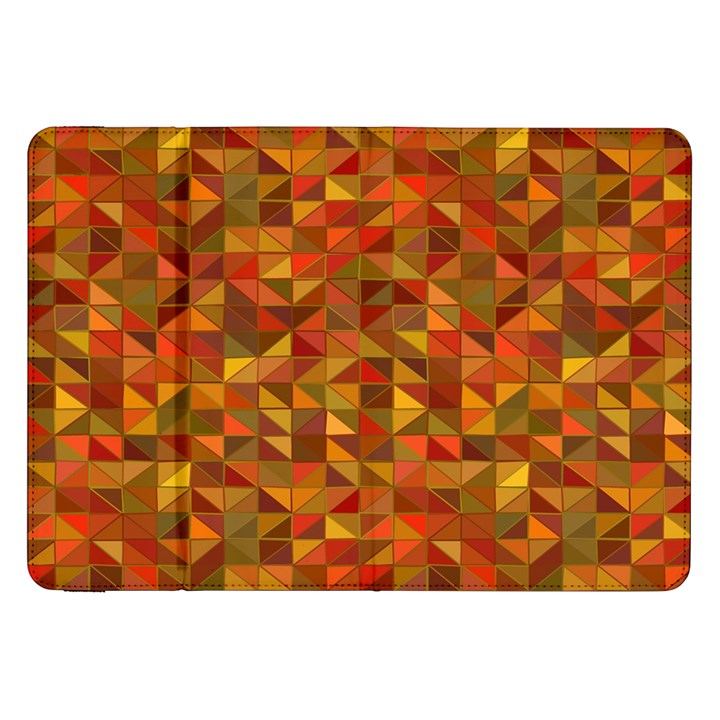 Gold Mosaic Background Pattern Samsung Galaxy Tab 8.9  P7300 Flip Case