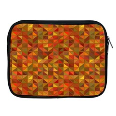 Gold Mosaic Background Pattern Apple Ipad 2/3/4 Zipper Cases