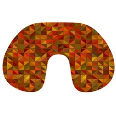 Gold Mosaic Background Pattern Travel Neck Pillows