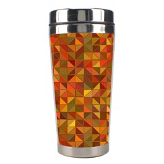 Gold Mosaic Background Pattern Stainless Steel Travel Tumblers