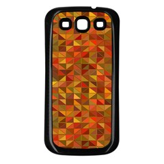 Gold Mosaic Background Pattern Samsung Galaxy S3 Back Case (Black)