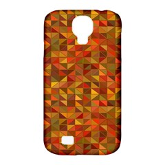 Gold Mosaic Background Pattern Samsung Galaxy S4 Classic Hardshell Case (PC+Silicone)