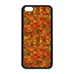 Gold Mosaic Background Pattern Apple Iphone 5c Seamless Case (black)