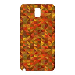 Gold Mosaic Background Pattern Samsung Galaxy Note 3 N9005 Hardshell Back Case