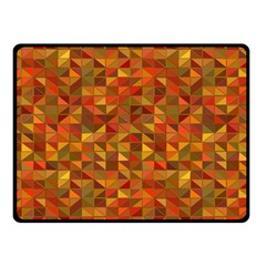 Gold Mosaic Background Pattern Double Sided Fleece Blanket (Small)