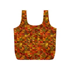 Gold Mosaic Background Pattern Full Print Recycle Bags (s)