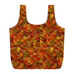 Gold Mosaic Background Pattern Full Print Recycle Bags (l)