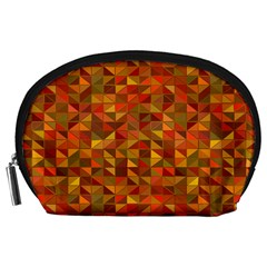 Gold Mosaic Background Pattern Accessory Pouches (Large)
