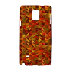 Gold Mosaic Background Pattern Samsung Galaxy Note 4 Hardshell Case
