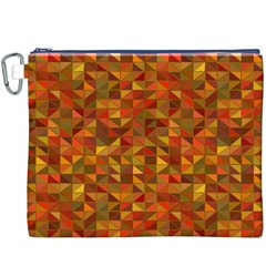Gold Mosaic Background Pattern Canvas Cosmetic Bag (XXXL)