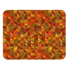 Gold Mosaic Background Pattern Double Sided Flano Blanket (Large)