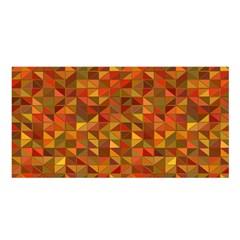 Gold Mosaic Background Pattern Satin Shawl