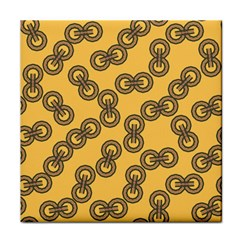 Abstract Shapes Links Design Tile Coasters