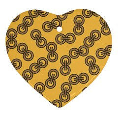 Abstract Shapes Links Design Ornament (Heart)
