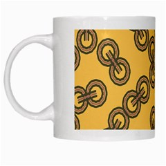 Abstract Shapes Links Design White Mugs