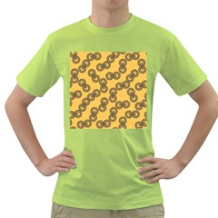 Abstract Shapes Links Design Green T-Shirt
