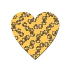 Abstract Shapes Links Design Heart Magnet