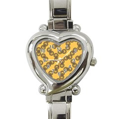 Abstract Shapes Links Design Heart Italian Charm Watch