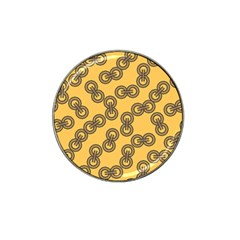 Abstract Shapes Links Design Hat Clip Ball Marker (10 pack)