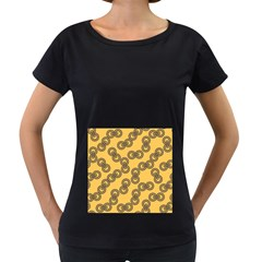 Abstract Shapes Links Design Women s Loose-Fit T-Shirt (Black)