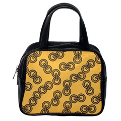 Abstract Shapes Links Design Classic Handbags (One Side)