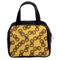 Abstract Shapes Links Design Classic Handbags (2 Sides)