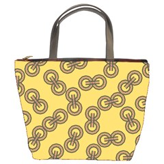 Abstract Shapes Links Design Bucket Bags