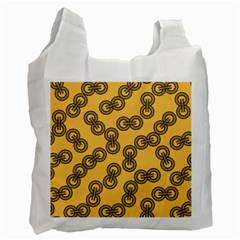 Abstract Shapes Links Design Recycle Bag (One Side)