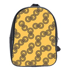 Abstract Shapes Links Design School Bags(Large)