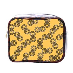 Abstract Shapes Links Design Mini Toiletries Bags