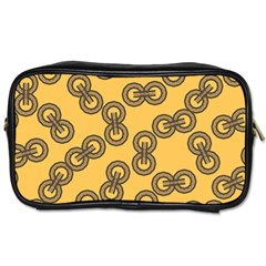 Abstract Shapes Links Design Toiletries Bags 2-Side