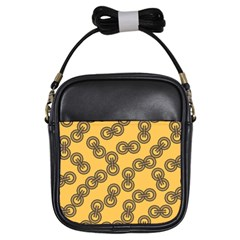 Abstract Shapes Links Design Girls Sling Bags