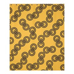 Abstract Shapes Links Design Shower Curtain 60  x 72  (Medium)